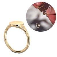 Proyección ligera amor suave cobre hembra mujeres novia joyería romántico corazón anillos pareja