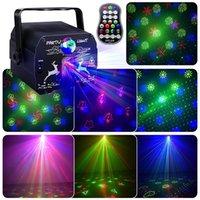 DJ Disco лазерное освещение светодиодный звук активирован RGB вечеринка свет 64 шаблон стробоскоп Projector этап лампы для семейного свадебного бара