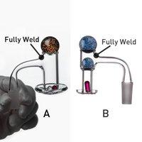 Nommatrices à quartz Banger + Ballon en verre + pilule rubis 10mm 14mm 18mm Mâle Femme 90 45 degrés pour Greas Bong DAB