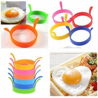 DHL Fast Kitchen Silicone Fried Fry Frier Oven Poacher Egg Poach Pancake Ring Mould Tool FY4673 CJ08