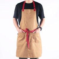 Aprons Adjustable El Restaurant Chef Waiter Apron Cotton Kitchen For Woman Men Work Bar Shop Cafes Accessories