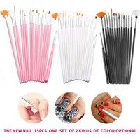 Nail Brushes 15pcs Designs Brush Set Including Point Drill Drawing Pens Painting 3D Pen Kits NE