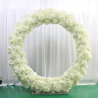 Искусственный цветочный ряд аранжировки поставляет декор для свадебной железной арки фона вечеринка шелковая роза гортензия пионы цветы стоять