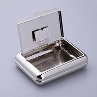 Cleaning Cloths Silver Smoke Storage Case Moisturize Box Pipe Holder Cigarette For Fathers Day Gift