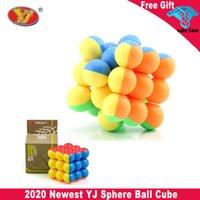 Yongjun الكرة المكعبات السحرية 3x3 الكرة الكرة مكعب ماجيك مكعب جولة الكرات المغناطيسية 3x3x3 سرعة مكعب لغز لعبة