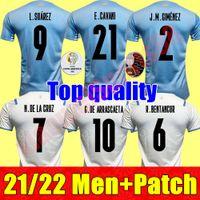 21 22 Copa América Uruguay Soccer Jersey 2021 Inicio L.SUAREZ E.CAVANI Shirt D.Godin Away National Team Uniformes de fútbol