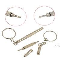 Llavero tornillo llavero anillo gafas destornillador destornillador de vidrio Ecigs vapor reloj reparación portátil bricolaje herramienta de mano FWB6039