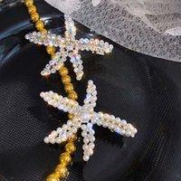 70% Off New Diamond Pearl Pearl Starfish Duck Beak Red Red Moda Versátil Clipe Alta Textura Super Flash Headdress na parte de trás