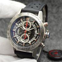 Harivalibre Watch SpaceX Chrono Flubback Механически вырезанные 46 мм набора Черный резиновый ленты мужские спортивные джентльмен часы VK хронограф
