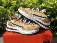 Выпуск аутентичные Sacai Vaporwaffle мужские кроссовки Seaname Blue Void белый темный Iris Campfire Orange спортивная обувь с оригинальной коробкой