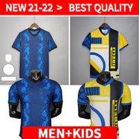 Oyuncu Sürümü Inter 2021 2022 Futbol Jersey Lukaku Milan Vidal Barella Lautaro Eriksen Alexis Hakimi 21 22 Futbol Gömlek Üniforma Erkekler