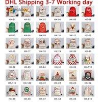 DHL 3-7 dni Statek Boże Narodzenie Santa Worki Płótno Bawełniane Torby Duża Organicznie Ciężkie Sznurek Prezent Torby Spersonalizowane Festiwal Party Christmas Decoration CS10