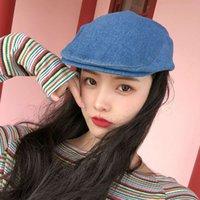 gorra primavera verano delgado tapa de vaquero británico, boina, sombrero para niños de pintor, sombrero de moda para hombres y mujeres