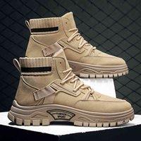الرجال الخريف والشتاء عالية أعلى مارتن الأحذية الأدوات دراجة نارية تأمين العمل الأحذية الرياضية الرجال الحرة shiping