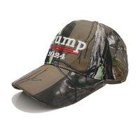 2024 Amerikanischer Präsidentschaftspräsident Trump Camouflage Baseballmütze Trump Hut Stickerei Drucken Baseballmütze US-Wahlkampagnen Caps WXY150