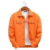 Famous Mens Denim Giacche uomo Donne Donne di alta qualità Cappotti casual Purple e Arancione Moda Stylist Jeans Jacks Jacket Cowboy Capispalla taglia M-4XL