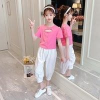 Clothing Sets Girls Clothes Summer Children Short Style Cotton Shirt And Pants 2 Pcs Girl Tracksuit Kids Suit