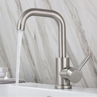 Stainless Steel Basin Faucet Single Handle Hole Kitchen Lavatory Bathroom Sink Tap And Cold Water Mixer Faucets