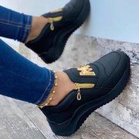 Kobiety Kliny Sneaker 2021 Nowe Grube Dotne Obuwie Obuwie Non Slip Płytkie Damskie Buty Solid Platforma Kobiety Wulkanizuj Buty