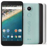 원래 재조정 된 LG Nexus 5X H790 H791 5.2 인치 Hexa 코어 2GB RAM 16GB 32GB ROM 12.4MP 잠금 해제 4G LTE 스마트 휴대 전화 5pcs