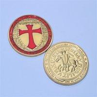 Pièces de monnaire plaquées or 24k Templier Pièce de monnaie, soldat de Christ Deus Vult forces spécialesBeautiful Coin / jeton