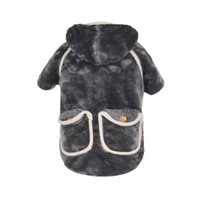 Dog Apparel Clothes Hoodies Soft Velboa Winter Thicken Warm Cloth For Small Jacket Coat Puppy Chihuahua Doublle Pocket Costume