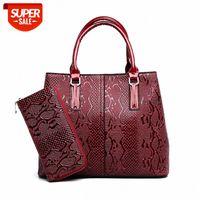 European and American snake print handbags fashion elegant handbag single shoulder bag two-piece mother-in-law #jv2h