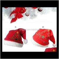 Hats Festive Party Home & Garden Drop Delivery 2021 Christmas Cute And Warm Hat (Printed Tree) Holiday Supplies Decorations Santa Dress Red C