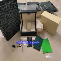Top AAA+Luxury Watch Green Box Papers Gift Watches Boxes Leather bag Card 0.8KG For Rolex Wristwatches case