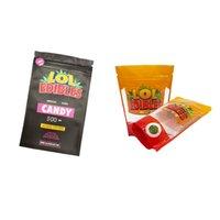 LOL Edibles Candy 500mg حقيبة الأحزمة الحامضة هشتاج العسل الفارغ غميس التعبئة والتغليف الرمز البريدي قفل رائحة دليل شفافة لحقائب mylar غائر