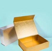 Caixas de embalagem High End Plain Gift Caixa de brinquedo espessa paperboard Dobrável caixas rígidas embalagens de fechamento magnético para roupas íntimas roupas cosméticas sn5318 {categoria}