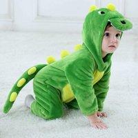 Umorden Infant Toddler Rabbit Dog Lion Tiger Dinosaur Costumes Baby Boys Girls Kigurumi Cartoon Animal Onesies Romper Halloween H0910