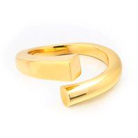 VAROLE Minimalist Curved Finger Ring Gold Color Statement Open Strip Rings For Women Fashion Jewelry Bague Anillos Mujer