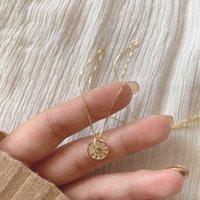 Collana pendente rotonda con scheletro in argento sterling 925 con la collana del pendente con la luce di lusso della catena della clavicola di Zircone per le donne