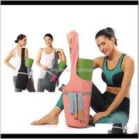 Mats 4118cm Yoga Mat Bag Gimnasio Bolsos de fitness para mujeres Hombres Entrenamiento Sac de Deporte Viajes Gimnasios Nylon Deportes al aire libre Tas Sporttas BCSGU JDC7P