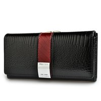 Genuine Leather Womens Wallets Patent Alligator Bag Female Design Clutch Long Multifunctional Coin Card Holder Purses