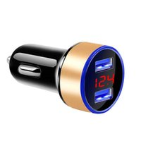 Car charger quickly went one to two USB flash conversion plug charger car charger multi-function cigarette lighter intelligence