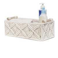 Tissue Boxes & Napkins Woven Cotton Rope Storage Basket Multifunctional Box Vintage Decoration For Kitchen Living Room Bathroom TS1