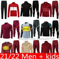 20 21 22 Crianças Homens Futebol Tracksuit Survection De Football Training Suit Sportswear 2021 2022 Longo Zíper Full Treinamento Jacketsuits Conjunto