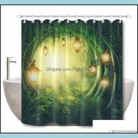 Shower Aessories Bath Home & Gardenshower Curtains Lb Street Light And Green Road In A Magic Dark Forest Bathroom Curtain Fairy Waterproof F