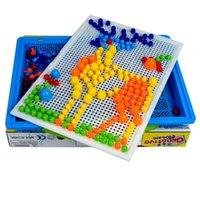 296 peças box-embalados grãos cogumelos grânulos inteligentes jogos de quebra-cabeça 3D jigsaw board para crianças crianças brinquedos educativos 1023 v2