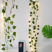 Strings 2M Artificial Plant Led String Light Creeper Green Leaf Ivy Vine For Home Wedding Decor Lamp DIY Hanging Garden Christmas Lights