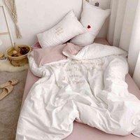 Northern Europe lavou algodão Ins clássico conjunto de roupa de cama de inverno estilo de cobertura de roupa de cama de roupa de cama equipada