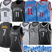 Kevin 7 Durant Jersey Kyrie 11 Basketball Irving Jerseys 13 Harden Jersey 2021 City Blue Tie Dye Style Back To 1990s Uniform