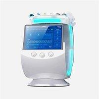 Alta Qualidade Ice azul ultra-sônico RF Aqua pele Scrubber anti-rugas hydraoxygen dermoabrasão facial com analisador de pele máquina de limpeza # 02