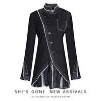Women's Jackets Trench Coats Women 2021 Style For Autumn And Winter Splicing Multi-Level Mesh Collar Xie Jin Suit Sequin Jacket
