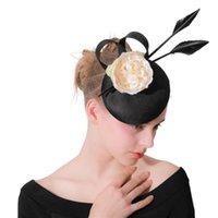 Palavras-chave preta imitação sinamay fascinators headwear flores de seda evento ocasião chapéu para kentucky derby igreja de casamento milinery cabeleiraria