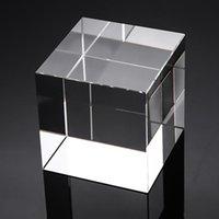 장식 객체 인형 1 PC 공기 거품 고품질 K9 광학 크리스탈 큐브 블록 DIY Paperweight 홈 인테리어