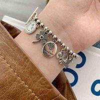 S925 стерлингового серебра для улыбки звезда звезда рыба цветок женщины браслет мода ювелирные аксессуары целые