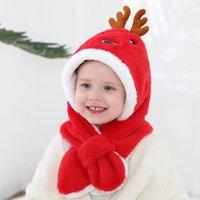 Caps & Hats Winter Cute Cartoon Elk Baby Hat Christmas Plush Kids Warm Infant Boy Girls Cap Ear Protection Children Bonnet
